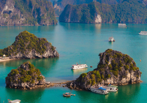 Vietnam river crusie ships and boats